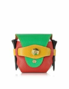 Fontanelli Designer Golf World, Multicolor Leather Golfball Holder