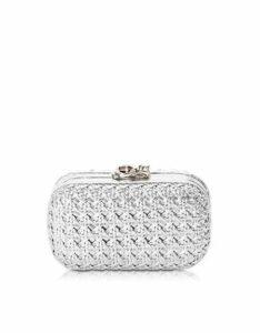 Corto Moltedo Designer Handbags, Susan C Star Silver Bentota Haribo Pochette w/Chain Strap