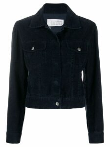 Maison Martin Margiela Pre-Owned 1990's suede effect cropped jacket -