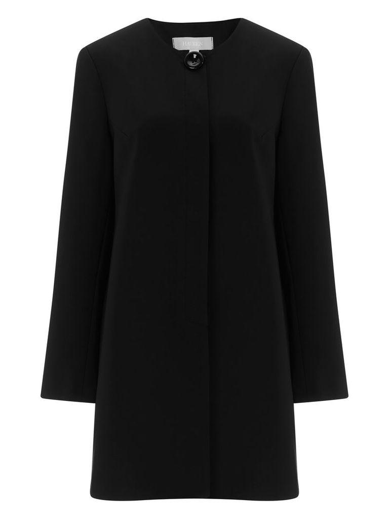 Havren Eliza Collarless Jacket, Black