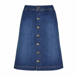 Weird Fish Vixey Denim Skirt Denim Size 20