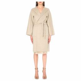 Max Mara Ladies Beige Tie-Waist Cashmere Coat