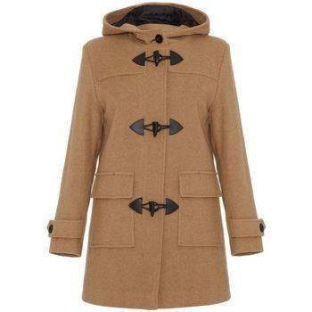 De La Creme  Wool Cashmere Winter Hooded Duffle Coat  women's Coat in Beige