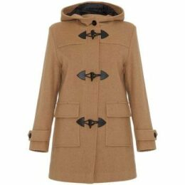 De La Creme  Wool Cashmere Winter Hooded Duffle Coat  women's Coat in Beige