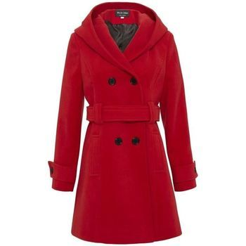 De La Creme  Winter Hooded Coat  women's Parka in Red