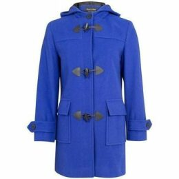 De La Creme  Wool Cashmere Winter Hooded Duffle Coat  women's Coat in Blue