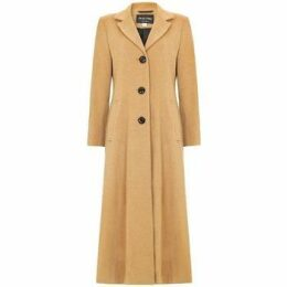 De La Creme  Double Single Fitted Long Coat  women's Parka in Beige