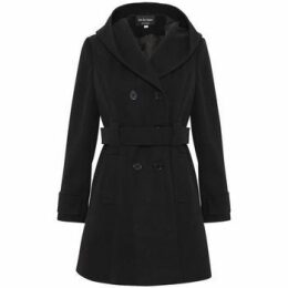 De La Creme  Winter Hooded Coat  women's Parka in Black