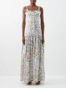 Mansur Gavriel - Ocean Pink Lined Leather Tote Bag - Womens - Brown Multi