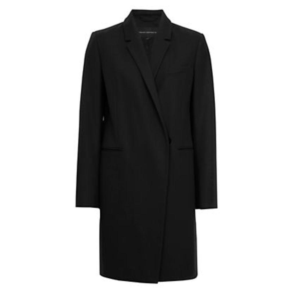 French Connection Platform Felt Long Sleeve Coat