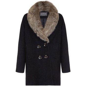 Anastasia  - Fur Collar Womens Winter Coat  women's Coat in Black