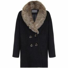Anastasia  - Fur Collar Womens Winter Coat  women's Coat in Black