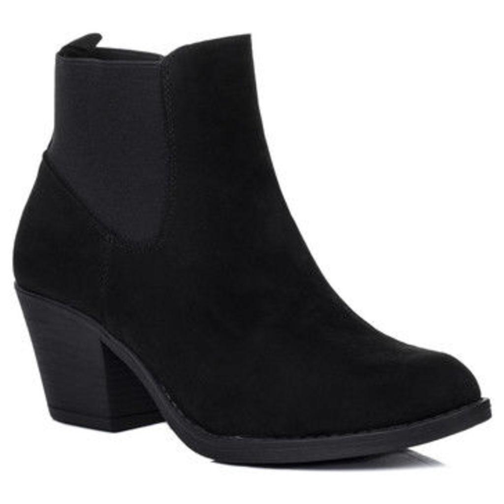 Spylovebuy  Longsheng  women's Low Ankle Boots in Black