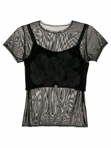 Tu es mon TRÉSOR mesh T-shirt - Black