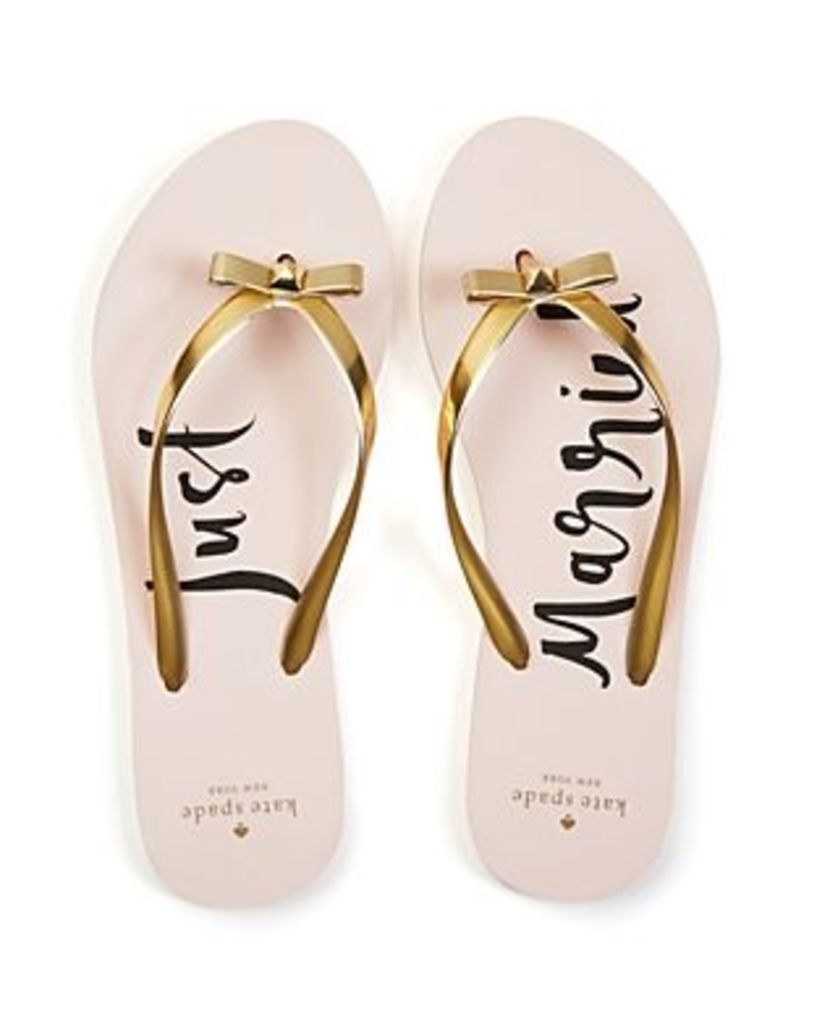 kate spade new york Nadine Just Married Flip-Flops