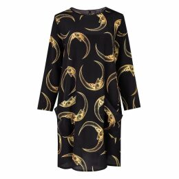 Louise Coleman - Man In The Moon Silk LS Dress