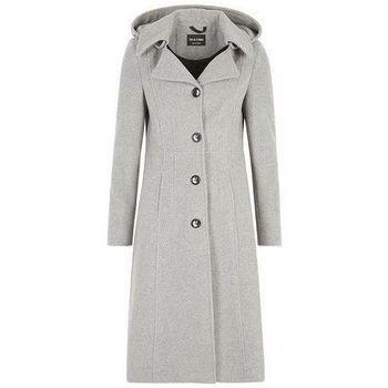 De La Creme  Cashmere Winter Coat  women's Jacket in Grey