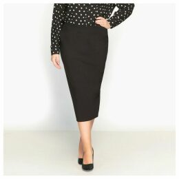 Figure-Hugging Midi Skirt