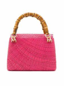 Serpui raffia tote bag - Pink