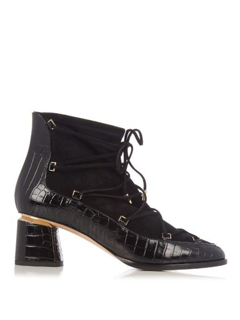 7e8027661e0 Outliner suede and leather ankle boots by NICHOLAS KIRKWOOD | Snap ...