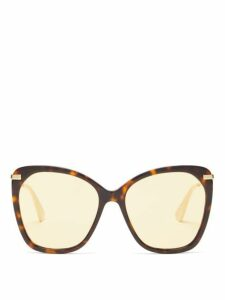 Gucci - Cat Eye Tortoiseshell Acetate Sunglasses - Womens - Tortoiseshell