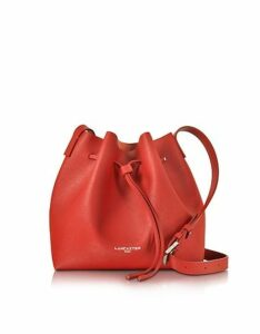 Lancaster Paris Designer Handbags, Pur & Element Saffiano Leather Bucket Bag