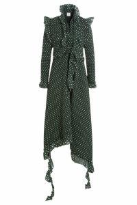Vetements Printed Dress with Asymmetric Hemline