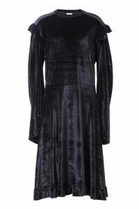 Vetements Velvet Dress with Ruffles