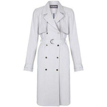 Anastasia  -Womens Soft Grey Unlined Trench Coat  women's Trench Coat in Grey