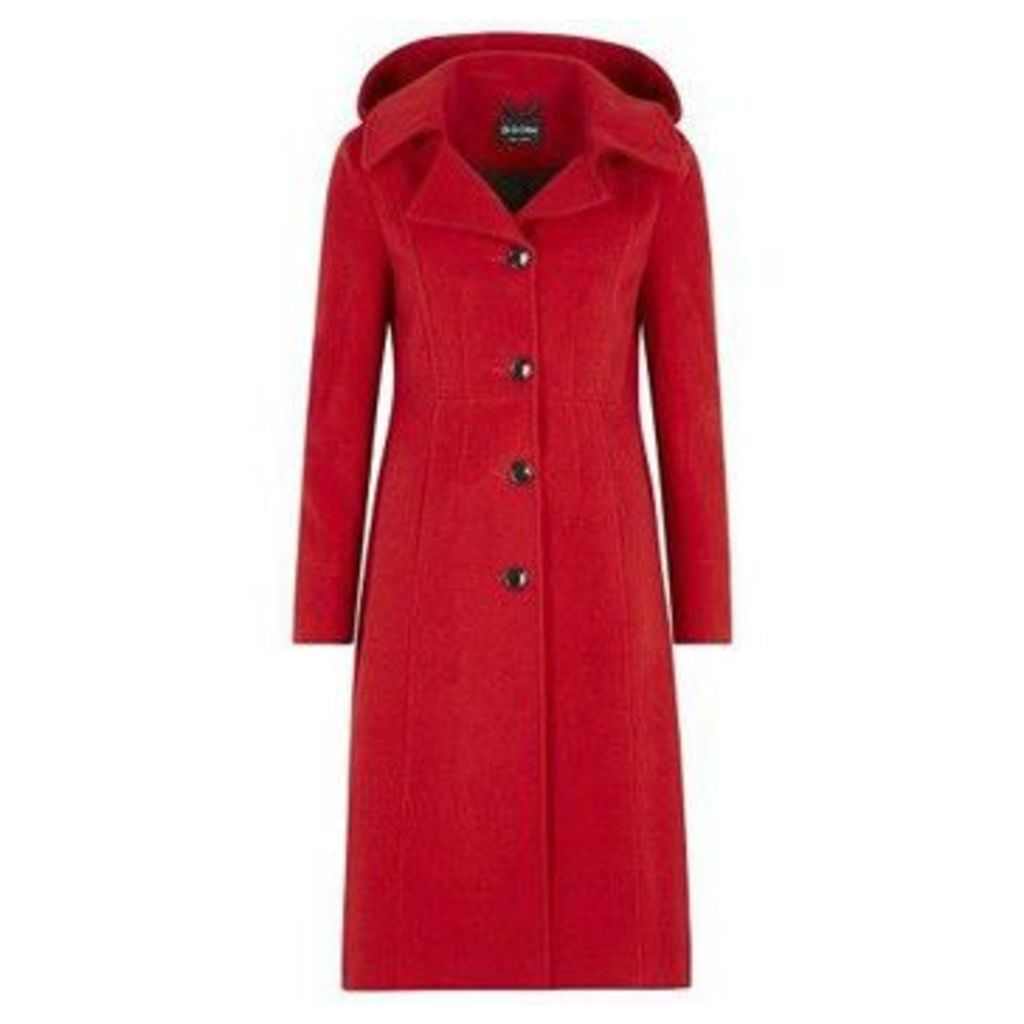 De La Creme  Cashmere Winter Coat  women's Jacket in Red