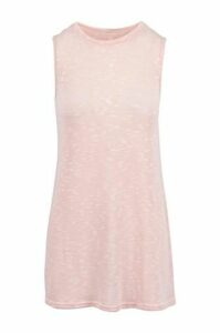 High Necked Swing Dress With Side Splits