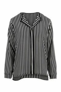 Monochrome Vertical Stripe Blouse