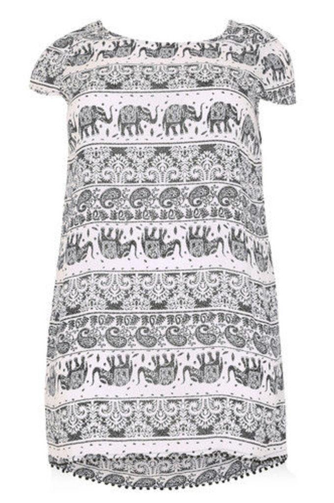 1d0bcee2ca5 Plus Size Batik Style Elephant Print Tunic Dress by Izabel London ...