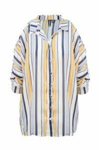 Striped Shoulder Reveal Box Shirt