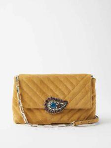 Katie Eary - Geo Print Silk Chiffon Dress - Womens - Red Multi