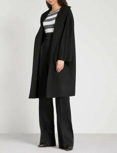 Max Mara Women's Black Lilia Cashmere Wrap Coat