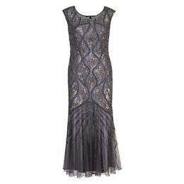 Chesca Beaded Mesh Dress