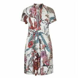 Just Cavalli Tie Multi Pattern Dress