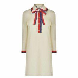 Gucci Web Trim Collar Dress