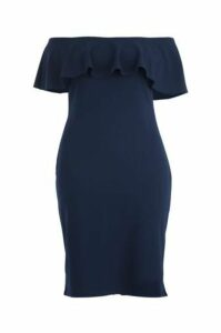Plus Size Frilled Collar Bodycon Dress