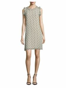Dot-Printed Sleeveless Dress