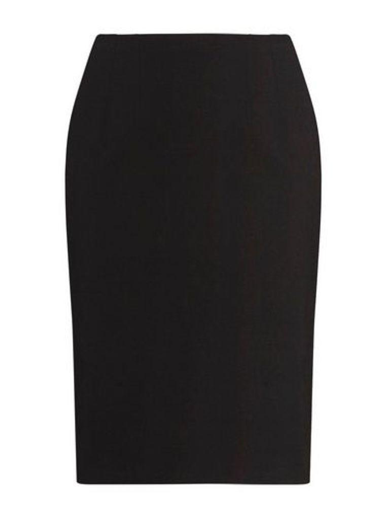 Womens **Dp Curve Black Bengaline Pull On Pencil Skirt- Black, Black