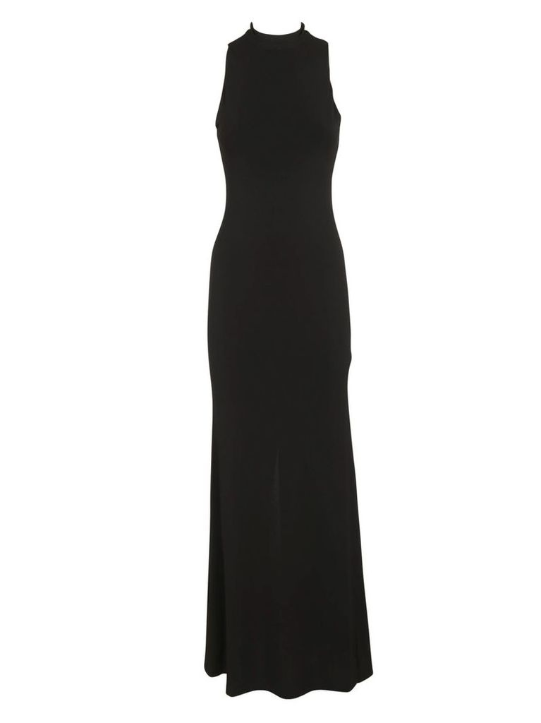 Sleeveless Dress From Alice And Olivia: Black Sleeveless Dress With Turtleneck, Slim Fit And Concealed Back Zip Fastening.
