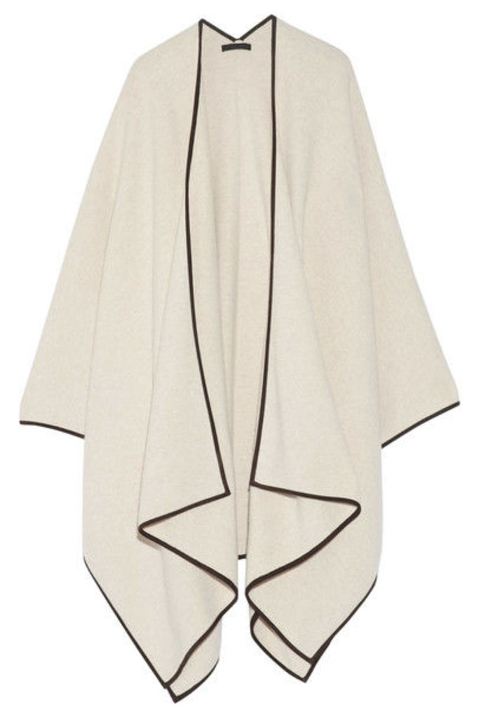 The Row - Dusana Suede-trimmed Merino Wool And Cashmere-blend Cape - Off-white
