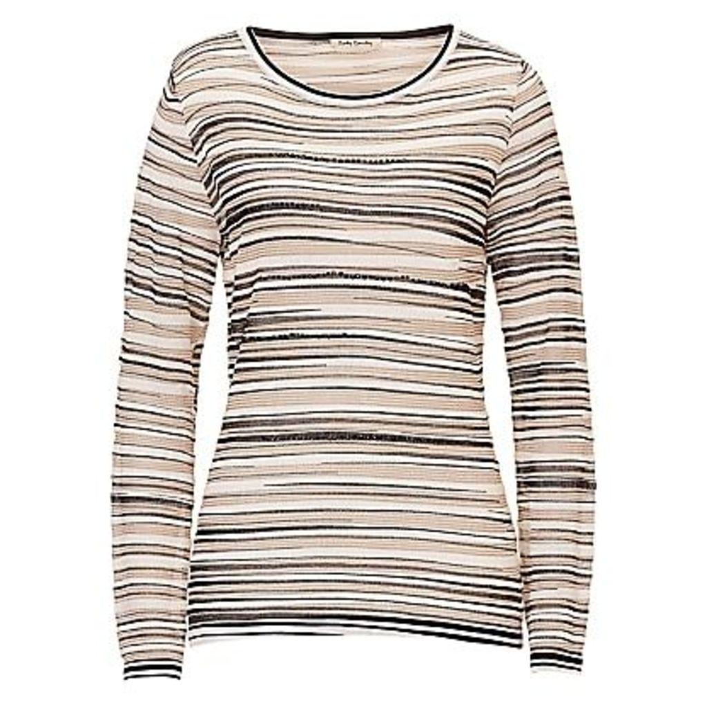 Betty Barclay Metallic Stripe Top, Cream/Black