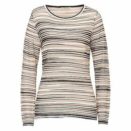 Betty Barclay Metallic Stripe Top, Cream/Black