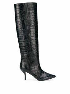 Semicouture crocodile effect boots - Blue