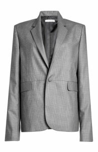 WILLIAM FAN Glen Plaid Wool Blazer