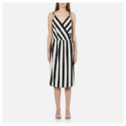 Marc Jacobs Women's Stripe Crossover Cami Dress - Black