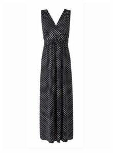 **Grace Monochrome Maxi Dress, Black